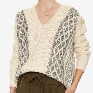 Derek Lam 10 Crosby Chunky Cable Knit Sweater S